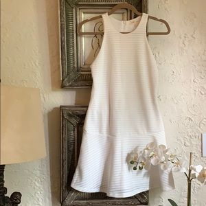 Eight Sixty XSmall Dress White Drop Waist NWOT